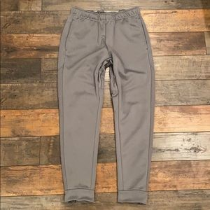 NIKE zip sweat pants joggers gray size small